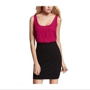Express Pink Black Bandage Dress size M, NWT